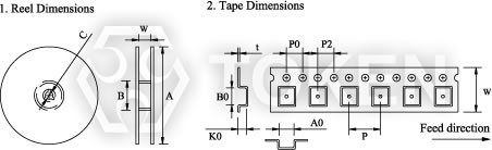 Tape and Reel Specifications for Surface Mount Inductor (Coils)